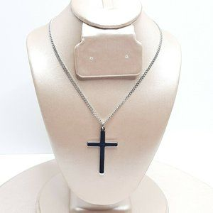 Riveting Jewelry 14K White Gold Plated Cross